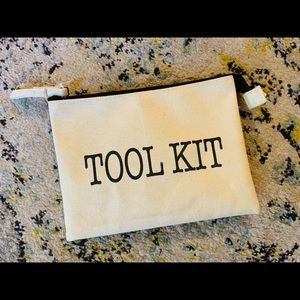 "Travel ""Tool Kit"" zippered pouch"